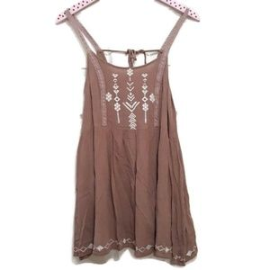 Altars State Embroidered Boho Tank Size M